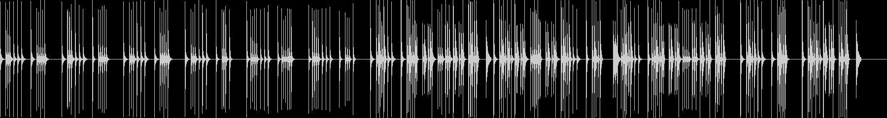 カリンバの超シンプル演奏BGMの未再生の波形