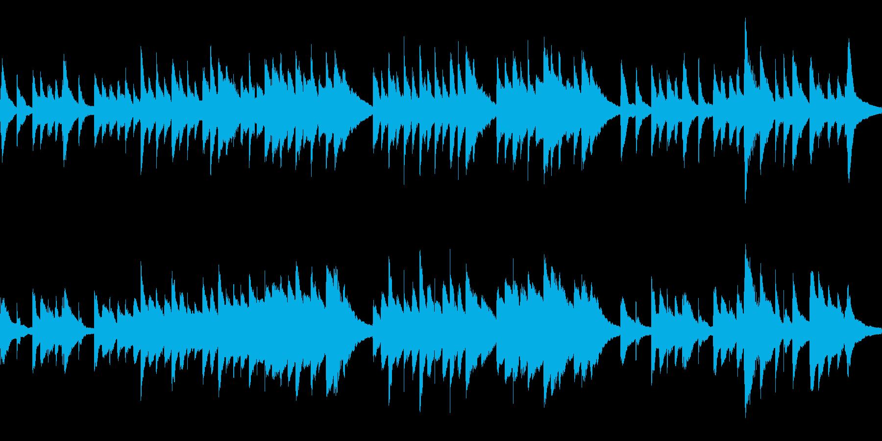 古歌「さくらさくら」ループ仕様ピアノソロの再生済みの波形