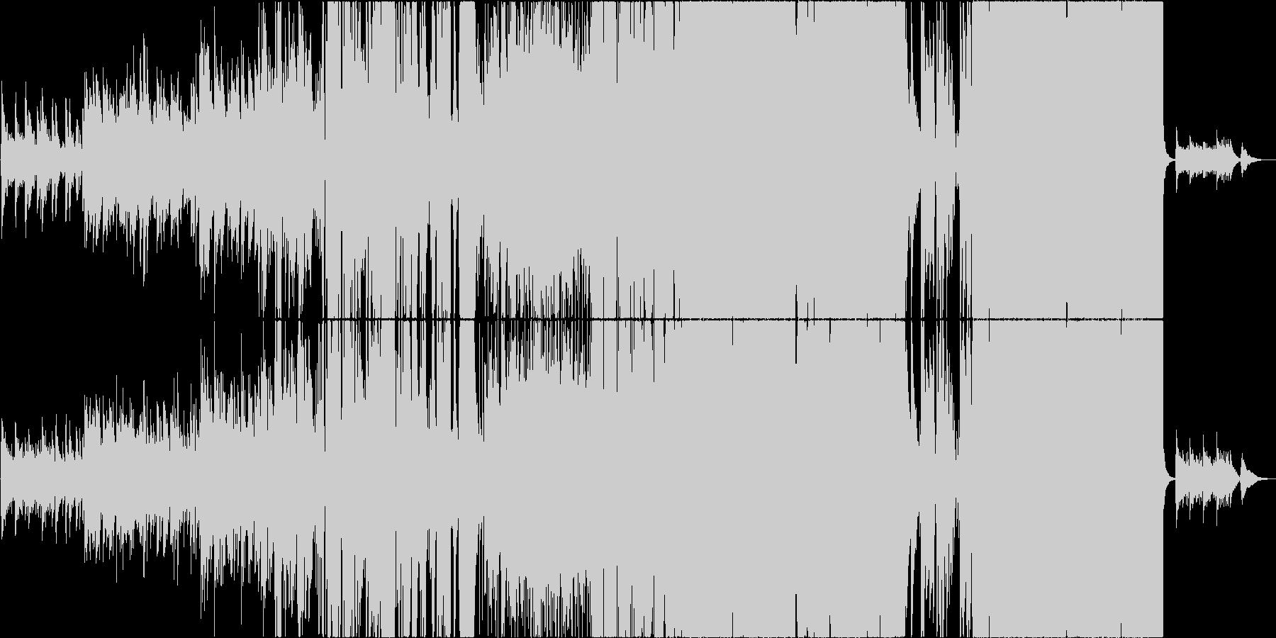 徐々に盛り上がるピアノ主の泣けるバラードの未再生の波形
