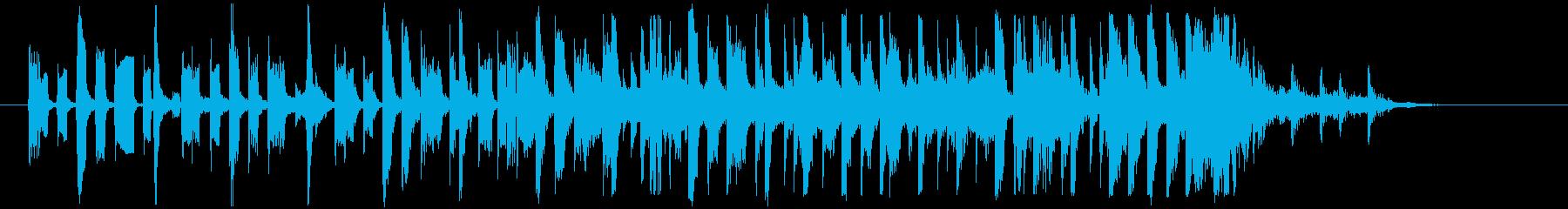 深夜のラジオで流れてきそうなジングルの再生済みの波形