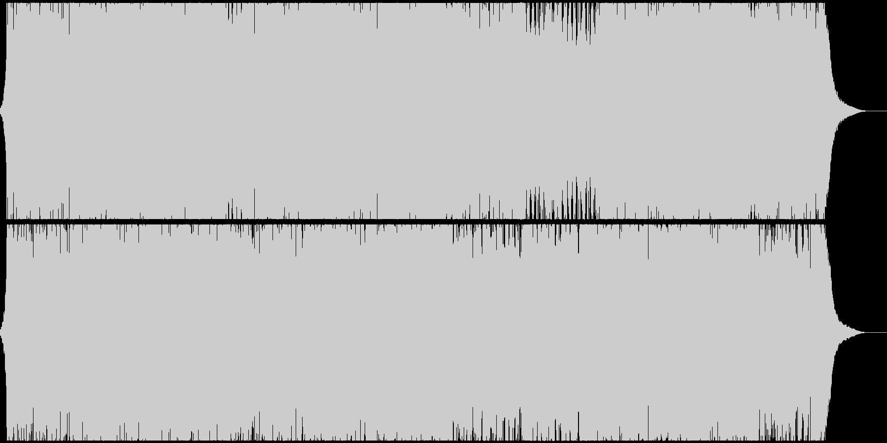 トロピカルな四つ打ちダンス曲の未再生の波形