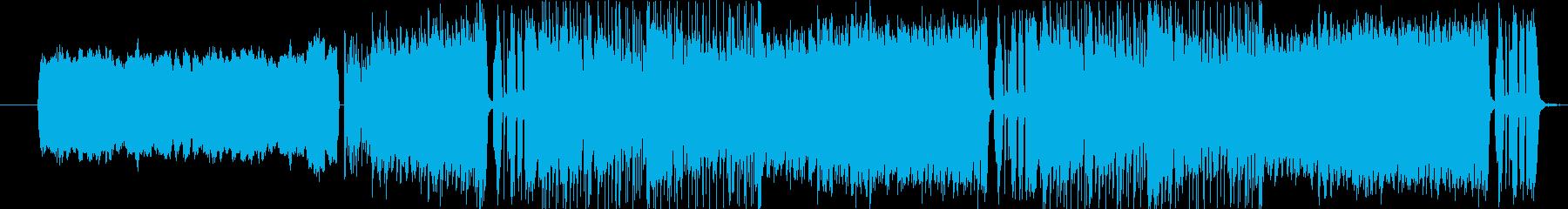 スピード感ある力強いメロディーの再生済みの波形