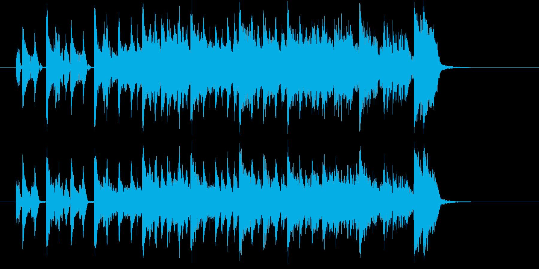 軽快でマイナーなエレキジングルの再生済みの波形