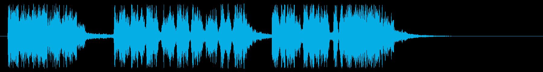 キリスト教のトランペットの再生済みの波形