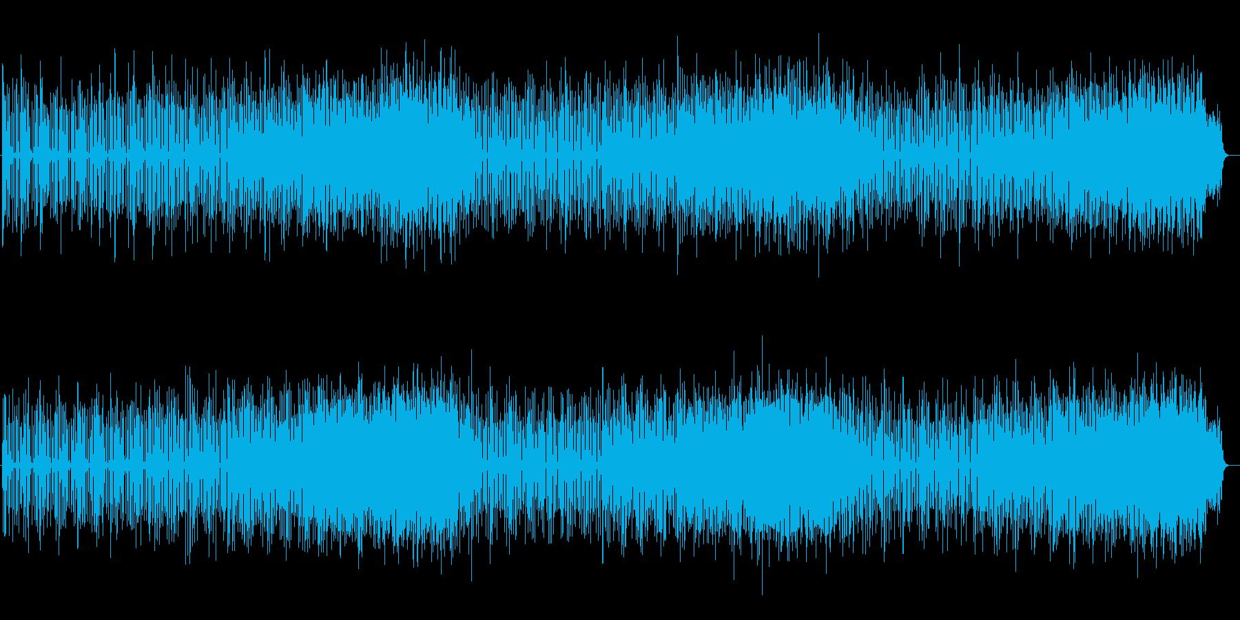 4つ打ちでアップテンポなテクノポップスの再生済みの波形