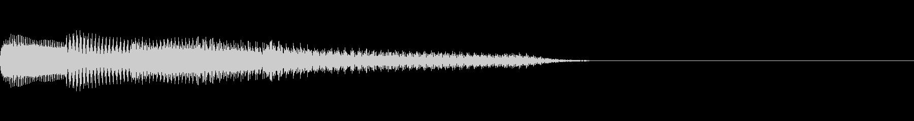 綺麗なピアノジングルの未再生の波形