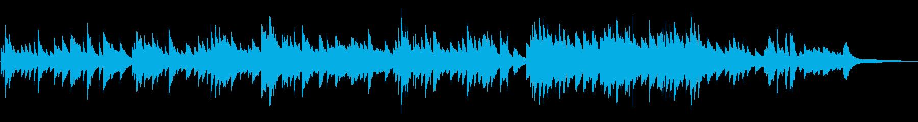 梅雨をイメージしたピアノバラードの再生済みの波形
