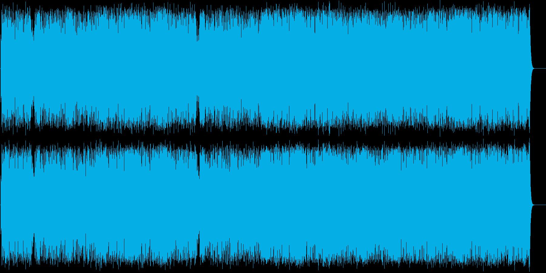 感動の余韻を残すエンディングテーマの再生済みの波形