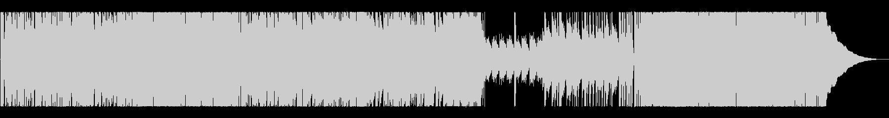 ピアノとドラムの軽快なBGMの未再生の波形