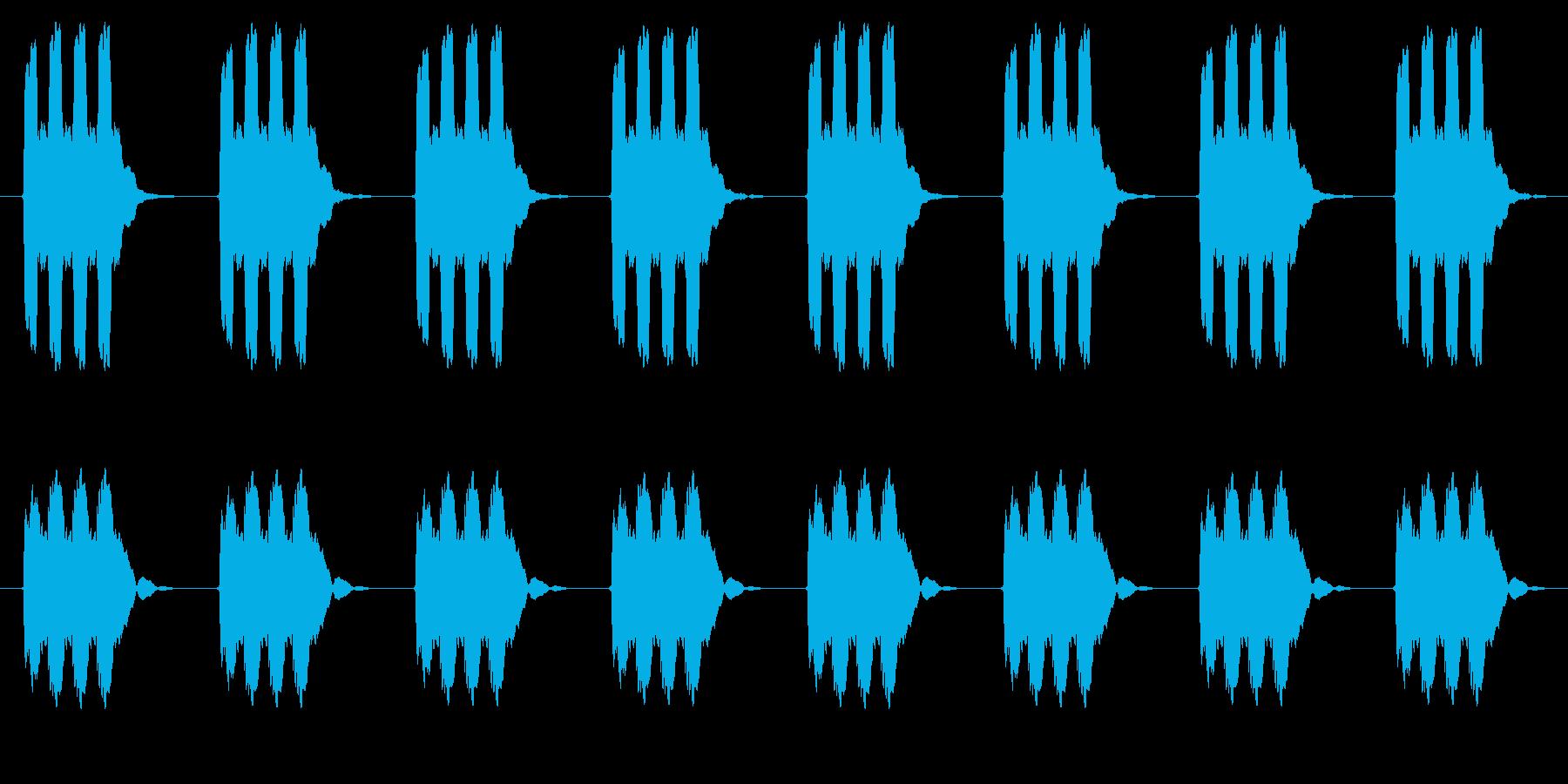 時計 アラーム03-03(遠い ループ)の再生済みの波形