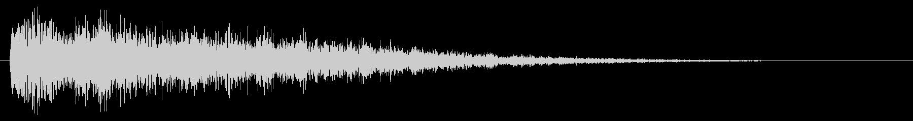 衝撃/ホラー系/テロップの未再生の波形