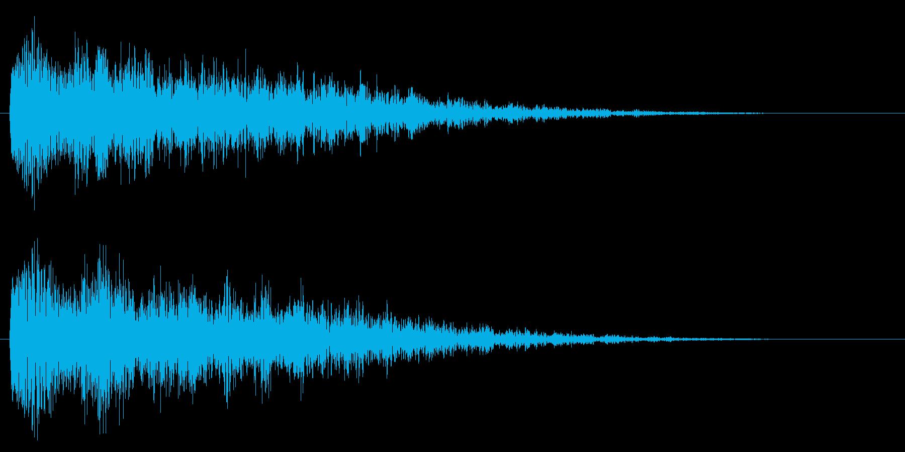 衝撃/ホラー系/テロップの再生済みの波形