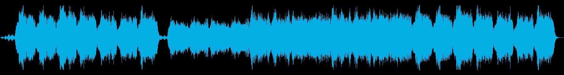 ストリングスの優雅な重和声の再生済みの波形