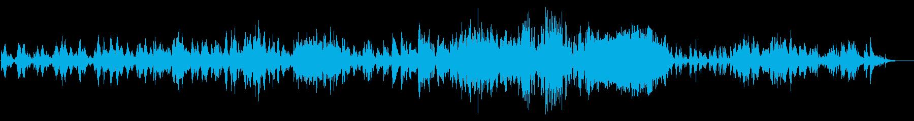 穏やかなイージーリスニングピアノソロの再生済みの波形