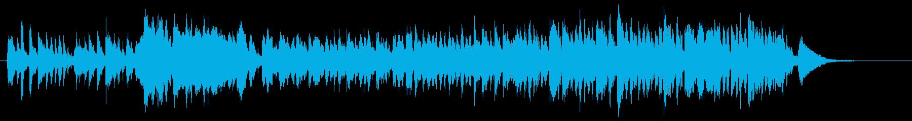 ほのぼのしたアコースティックな楽曲の再生済みの波形