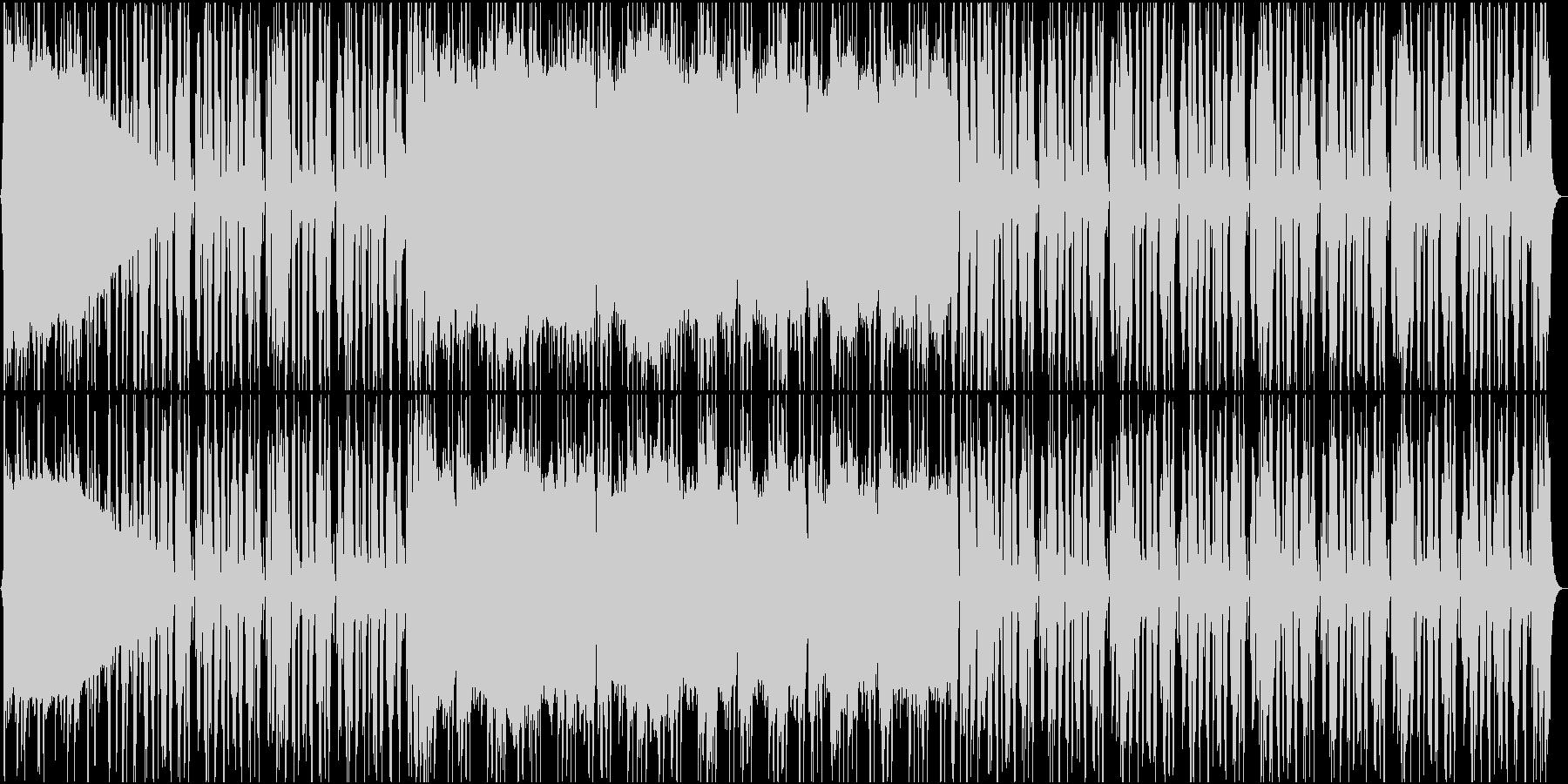 軽快で歪みの少ないバンドサウンドの未再生の波形