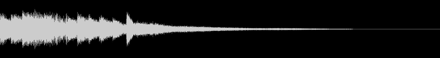 ピアノの印象的なシンプルなジングルの未再生の波形