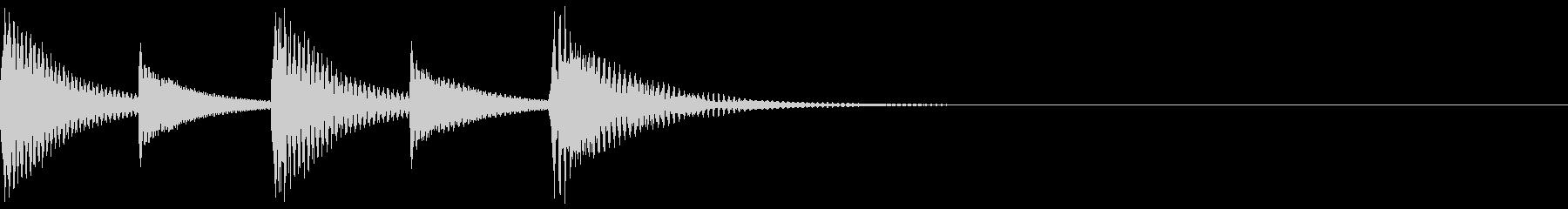 軽快なシーン切替、人物リアクション09の未再生の波形