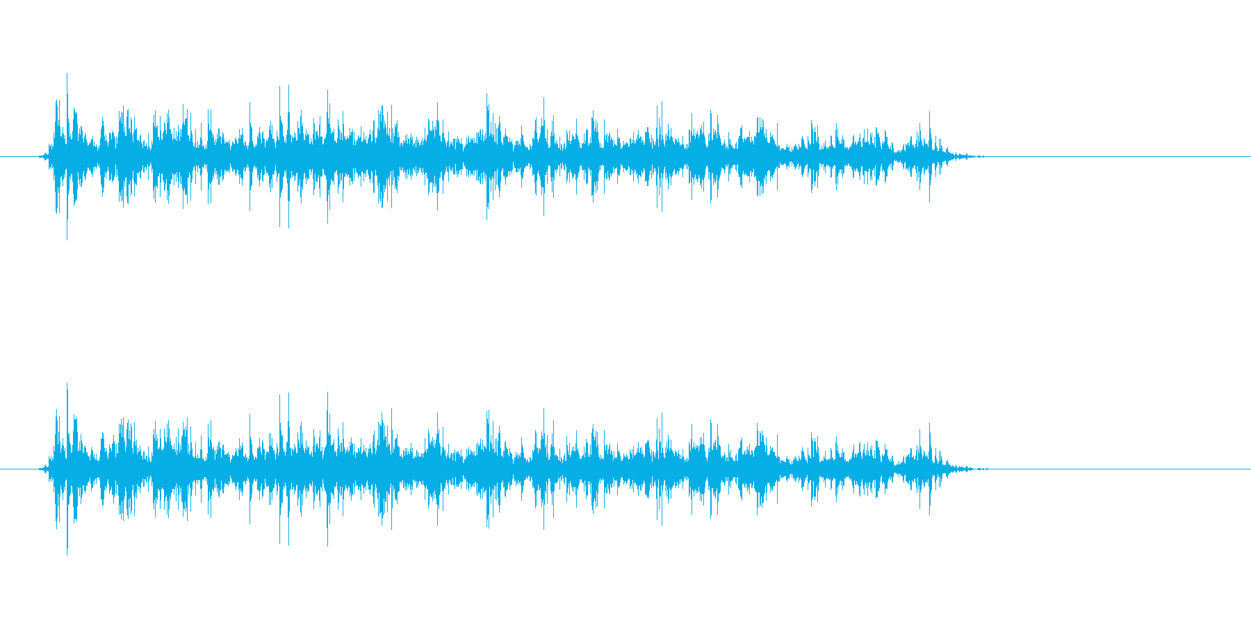 シャカシャカシャカシャカ(生録音)の再生済みの波形