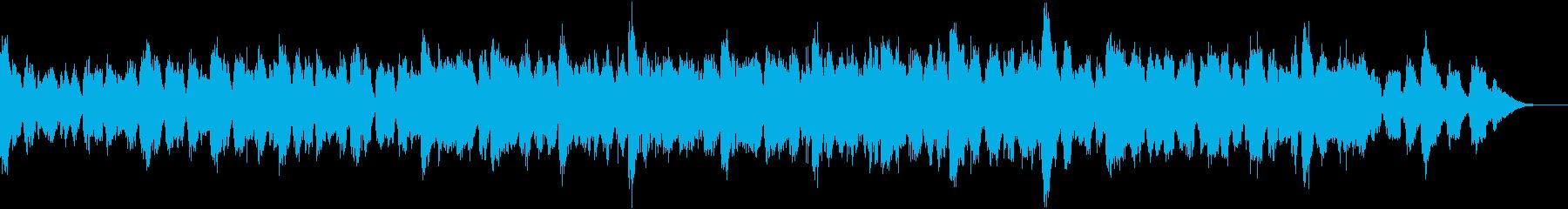 ホラー映画のクライマックスシーンの再生済みの波形