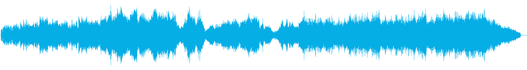 Xmasらしい雰囲気の幻想的な曲の再生済みの波形