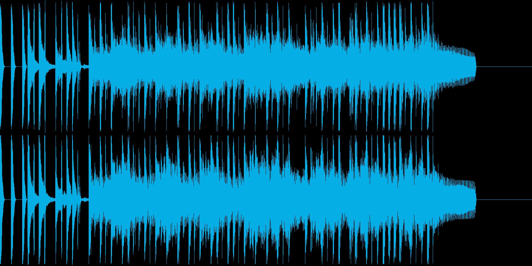 クールでエスニックな長めジングルの再生済みの波形