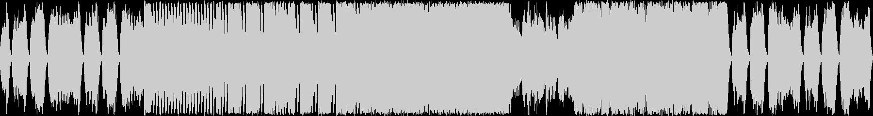 ミステリアスな弦楽ワルツ風の未再生の波形