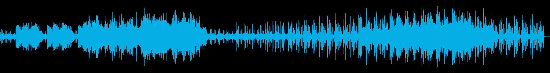 不思議で神秘的、ファンタジックな曲の再生済みの波形