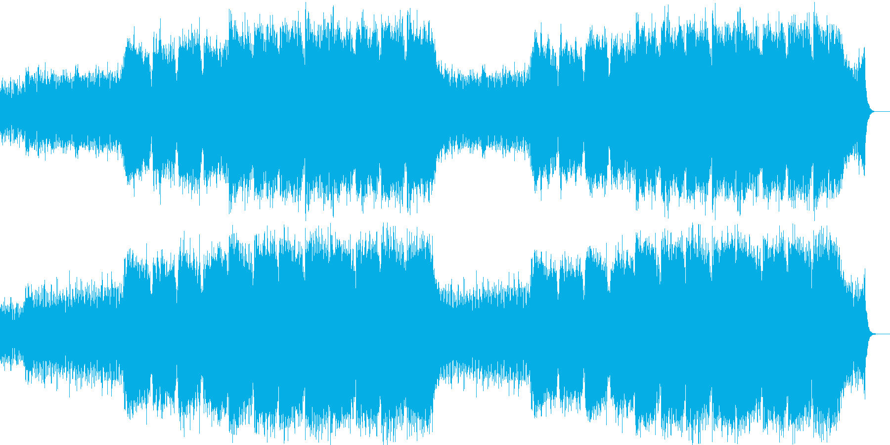 企業VPや映像67、オーケストラ、壮大aの再生済みの波形