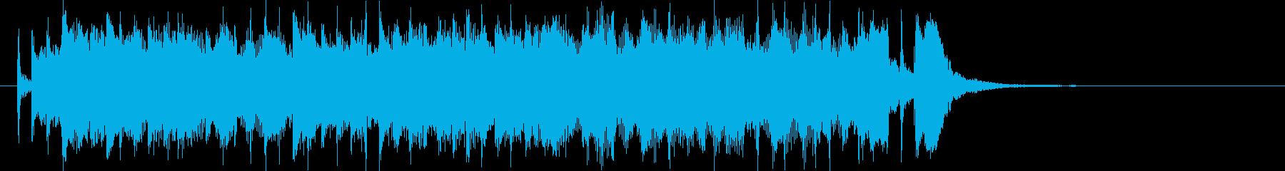ポップでリズミカルなエレキジングルの再生済みの波形