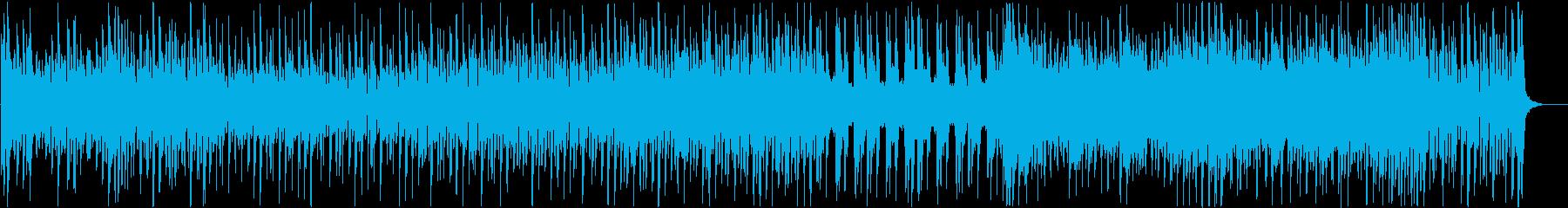 いきいきした日常シーンを想定したポップスの再生済みの波形