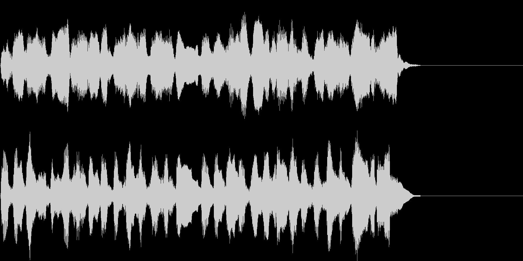 懐かしくてのどかなアレンジのクラシックの未再生の波形