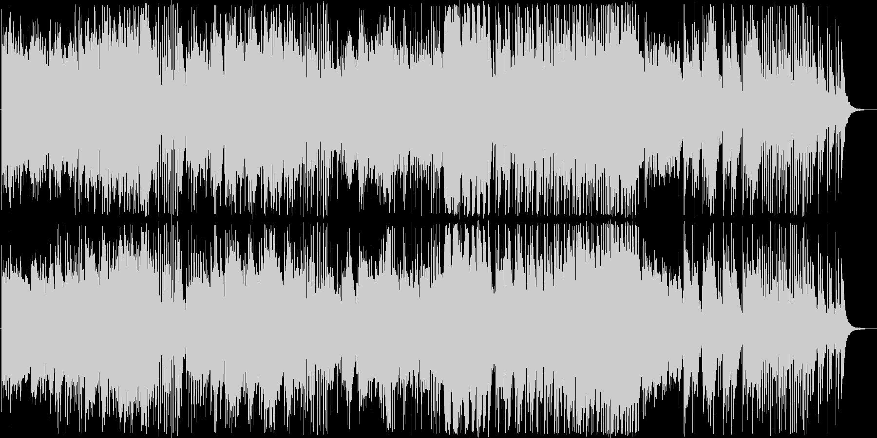冷たいイメージのアンビエントな曲の未再生の波形