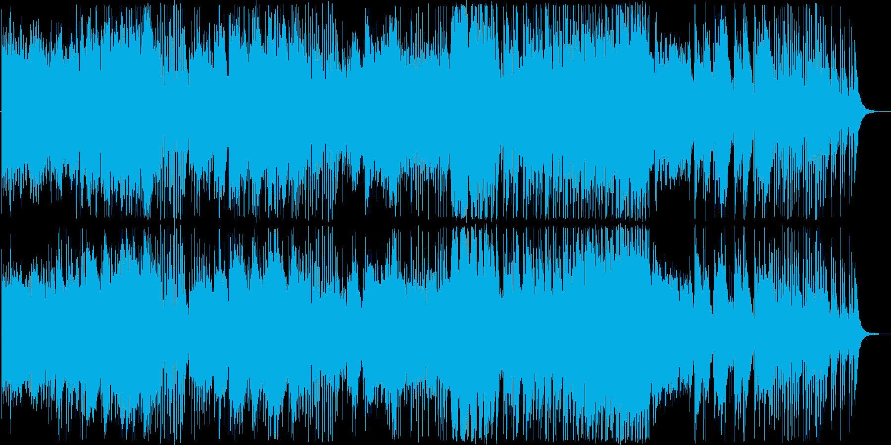 冷たいイメージのアンビエントな曲の再生済みの波形