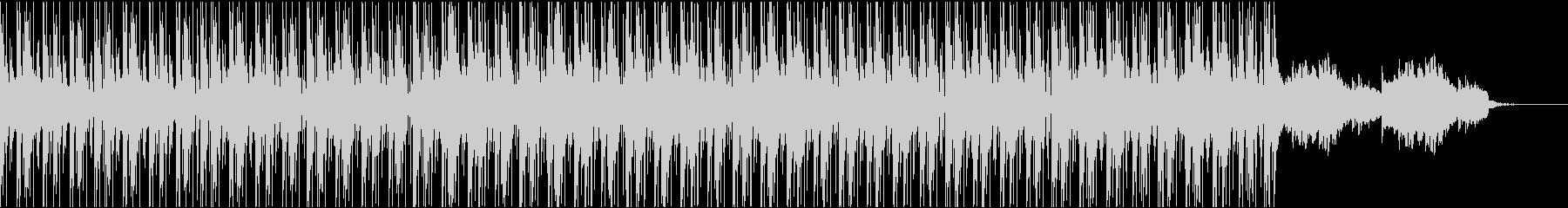 お洒落なピアノハウスBGMの未再生の波形