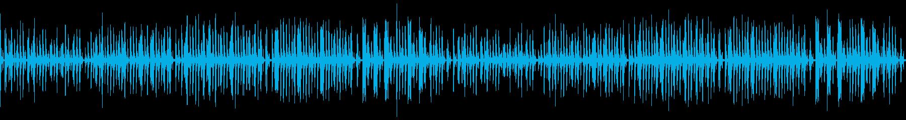 動画向けのほのぼのとした日常系木管ピアノの再生済みの波形