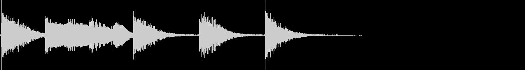 明るく かわいいピアノサウンドロゴ03の未再生の波形