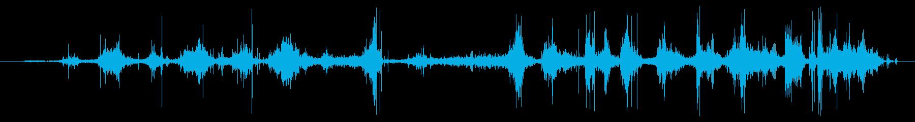 クロスカントリースキー:オンボード...の再生済みの波形