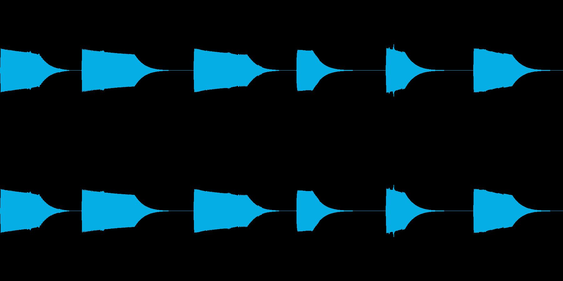 シンセ、フィルター、スイープ、ター...の再生済みの波形