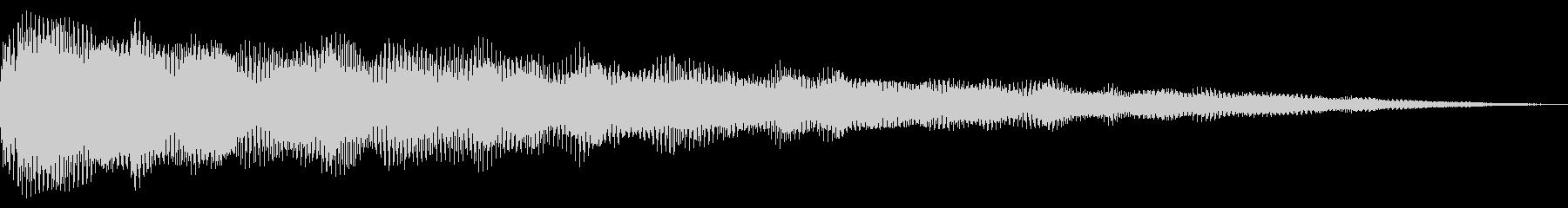 響き渡る低音リラクゼーショントラックの未再生の波形