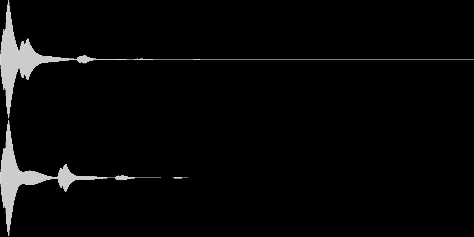 キラーン☆シンプルなシステム音の未再生の波形