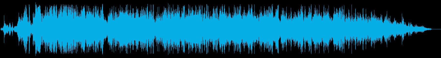 トイレの水を流す効果音の再生済みの波形