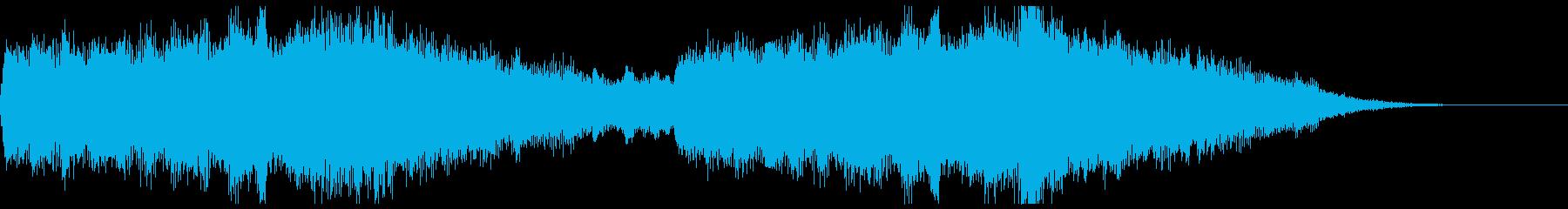 MARVEL風オーケストラジングルの再生済みの波形