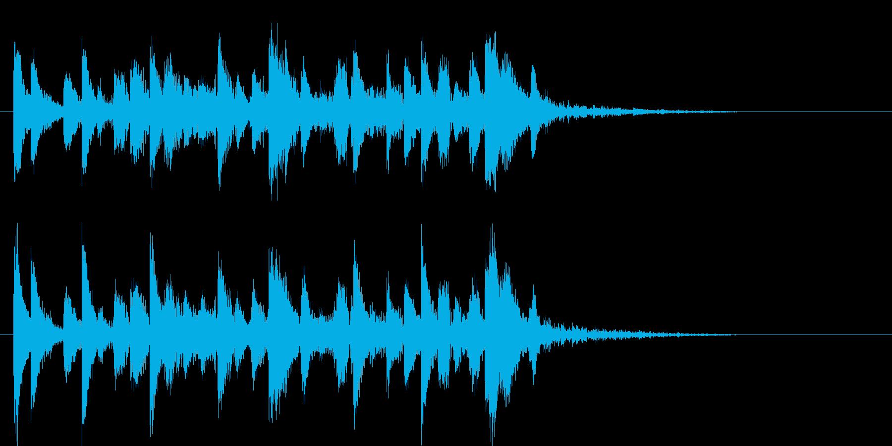ハードボイルドな映像にあうテクノサウンドの再生済みの波形
