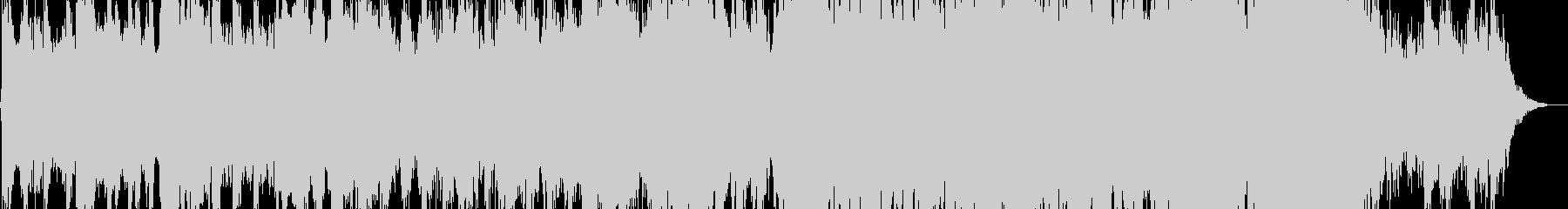 ティンパニが目立つ重厚壮大なオーケストラの未再生の波形