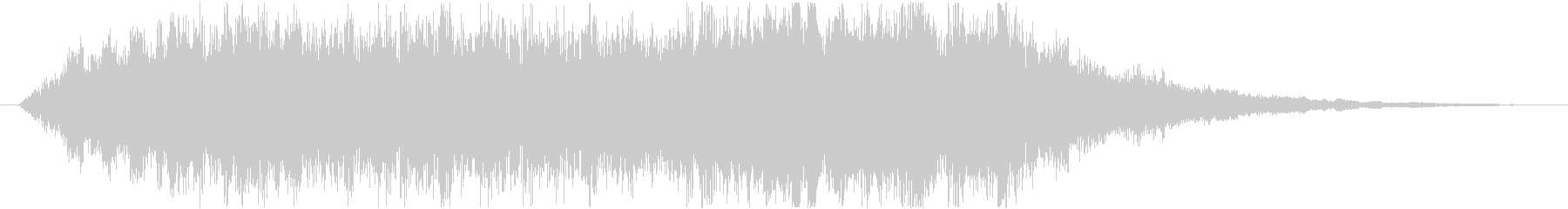 幻想的なサウンドロゴ(ジングル)の未再生の波形