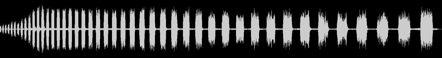 チャッターブレーキのスクラッピングの未再生の波形