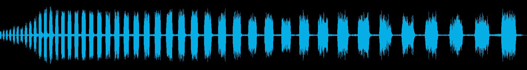 チャッターブレーキのスクラッピングの再生済みの波形
