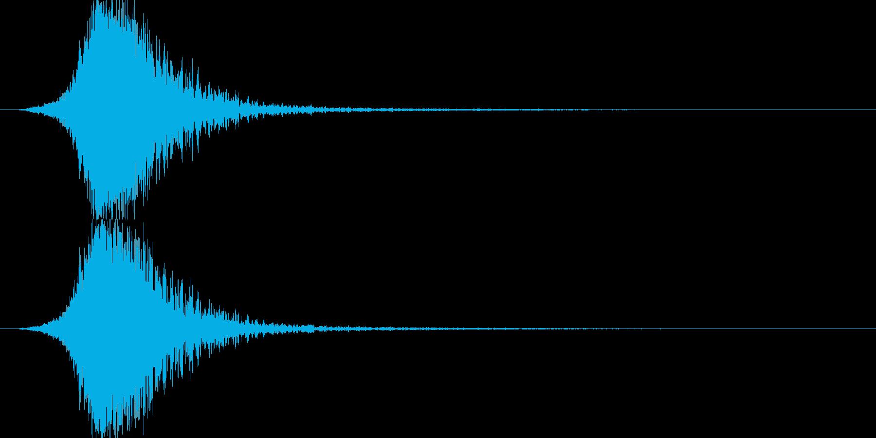 金属的な爆発音(破裂音)の再生済みの波形