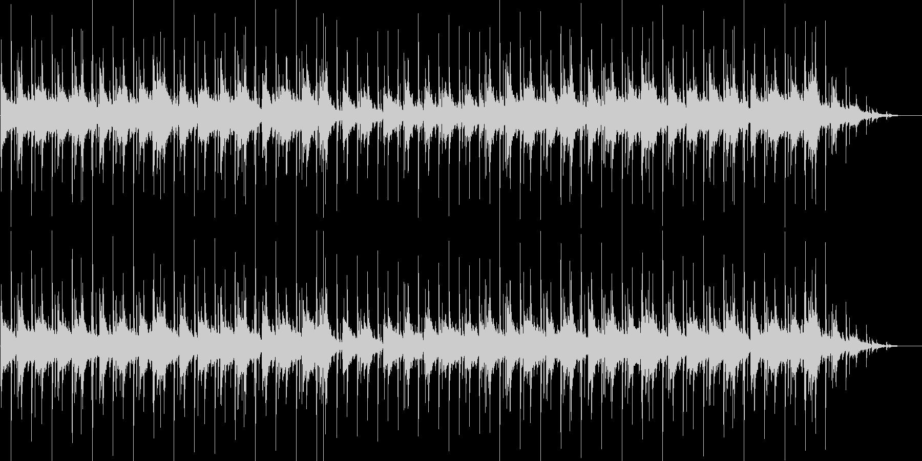 じんわりと染みるバンド調BGMの未再生の波形